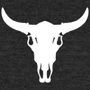 Cow/Bull Skull T-Shirts - Unisex Tri-Blend T-Shirt by American Apparel