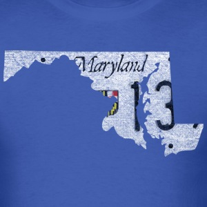 Maryland State License Plate T-Shirts - Men's T-Shirt