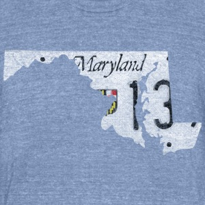 Maryland State License Plate T-Shirts - Unisex Tri-Blend T-Shirt by American Apparel