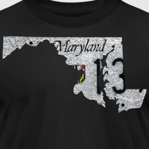 Maryland State License Plate T-Shirts - Men's T-Shirt by American Apparel