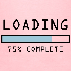 "Women's pregnancy announcement t-shirt ""Loading 75 - Women's T-Shirt"