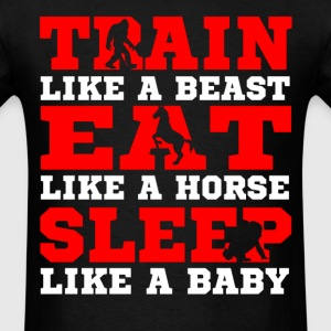 train like a beast - Men's T-Shirt