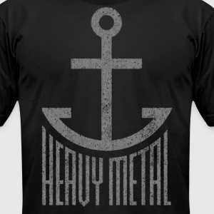 Heavy Metal - Gray T-Shirts - Men's T-Shirt by American Apparel