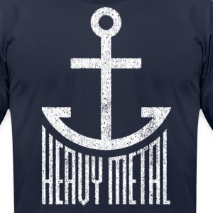 Heavy Metal - White T-Shirts - Men's T-Shirt by American Apparel