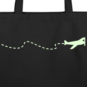 flying plain (1c) Bags  - Eco-Friendly Cotton Tote