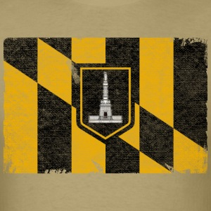 Baltimore Flag Distressed T-Shirts - Men's T-Shirt