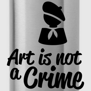 Art is not a Crime Bottles & Mugs - Water Bottle