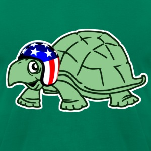 USA Stunt Turtle - Men's T-Shirt by American Apparel