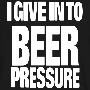 I GIVE IN TO BEER PRESSURE T-Shirts - Men's V-Neck T-Shirt by Canvas