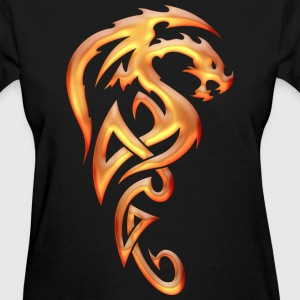 Golden Tribal Dragon Women's T-Shirts - Women's T-Shirt