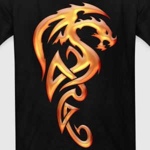 Golden Tribal Dragon Kids' Shirts - Kids' T-Shirt