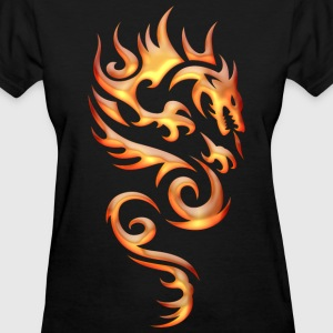 Tribal Fire Dragon Women's T-Shirts - Women's T-Shirt