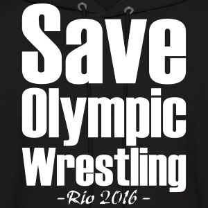 Save Olympic Wrestling Hoodies - Men's Hoodie