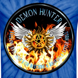 Demon Hunter  protection Symbal Flames Ring Patch  T-Shirts - Unisex Tie Dye T-Shirt