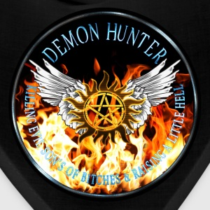 Demon Hunter  protection Symbal Flames Ring Patch  Caps - Bandana