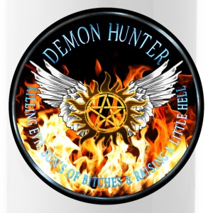 Demon Hunter  protection Symbal Flames Ring Patch  Bottles & Mugs - Water Bottle