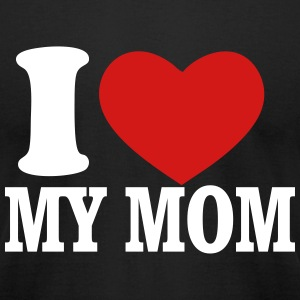love mom - Men's T-Shirt by American Apparel
