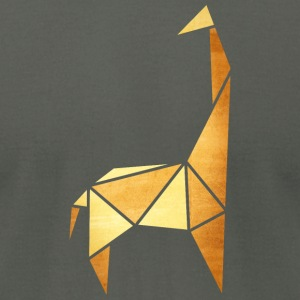 origami: giraffe (parchment paper look) T-Shirts - Men's T-Shirt by American Apparel