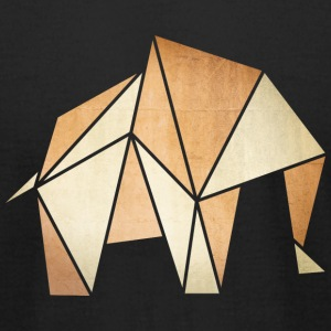 origami: elephant (parchment paper look) T-Shirts - Men's T-Shirt by American Apparel
