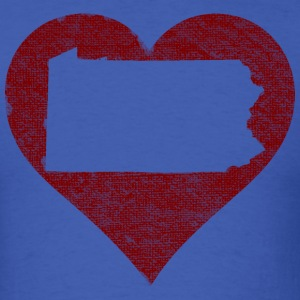 Pennsylvania Heart T-Shirts - Men's T-Shirt