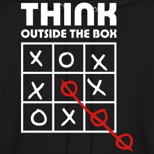 think outside box Hoodies - Men's Hoodie