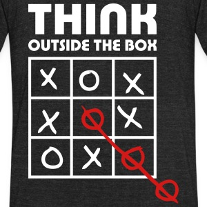 think outside box T-Shirts - Unisex Tri-Blend T-Shirt by American Apparel