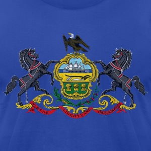 Pennsylvania Distressed Flag T-Shirts - Men's T-Shirt by American Apparel