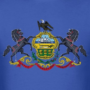 Pennsylvania Distressed Flag T-Shirts - Men's T-Shirt