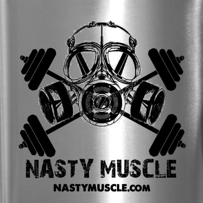 Nasty Muscle Tavel Mug (Silver)