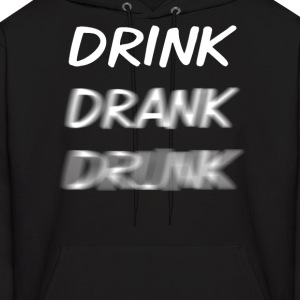 Drink Drank Drunk White Hoodies - Men's Hoodie