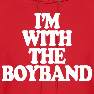 I'm With The Boy Band Hoodies - Men's Hoodie