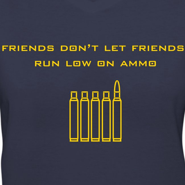 Navy/Gold Friend's Ammo Girl's V-Neck