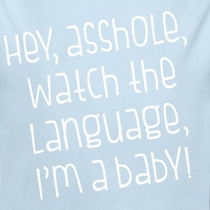 Watch The Language - Long Sleeve Baby Bodysuit