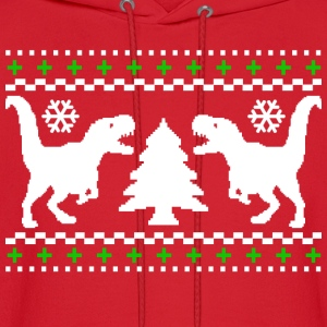 Ugly T-REX Christmas Sweater - Men's Hoodie