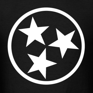 tennessee state flag star - Men's T-Shirt