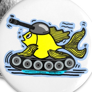 Tank Fish with a cannon, FishTank - Large Buttons
