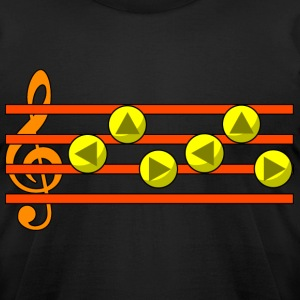 Zelda's Lullaby Ocarina Song T-Shirts - Men's T-Shirt by American Apparel