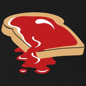 A slice of bread with jam T-Shirts - Men's V-Neck T-Shirt by Canvas