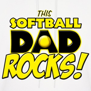 This Softball Dad Rocks Hoodies - Men's Hoodie
