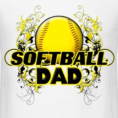 Softball Dad (cross) T-Shirts