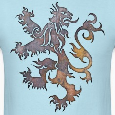 Heraldry Lion Textured T-Shirts