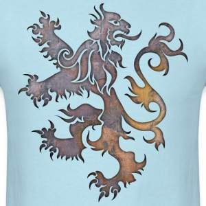 Heraldry Lion Textured T-Shirts - Men's T-Shirt
