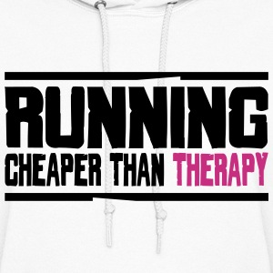 RUNNING - CHEAPER THAN THERAPY Hoodies - Women's Hoodie