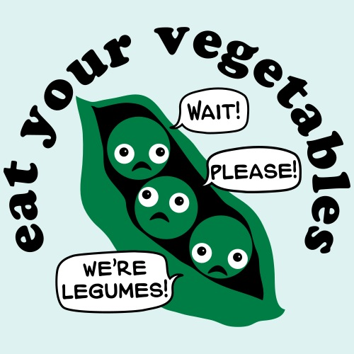 Don't Eat Us! Legumes (Vector)