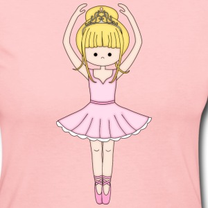 Pretty Little Ballerina in Pink - Women's Long Sleeve Jersey T-Shirt