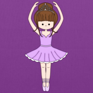 Pretty Little Ballerina in Purple - Tote Bag