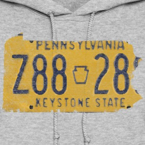 Pennsylvania State License Plate Hoodies - Women's Hoodie