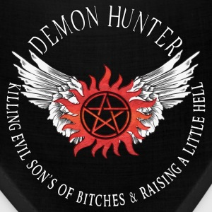 Demon Hunter  protection Symbal Flames 12 Caps - Bandana