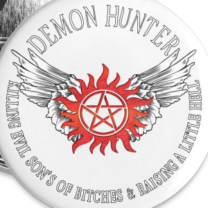 Demon Hunter  protection Symbal Flames 12 Buttons - Small Buttons