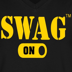 SWAG ON T-Shirts - Men's V-Neck T-Shirt by Canvas
